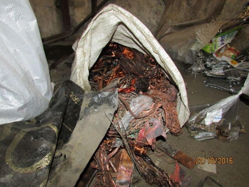 В подсобке бывшего кафе Каменского работал нелегальный пункт приема металлолома, фото-6