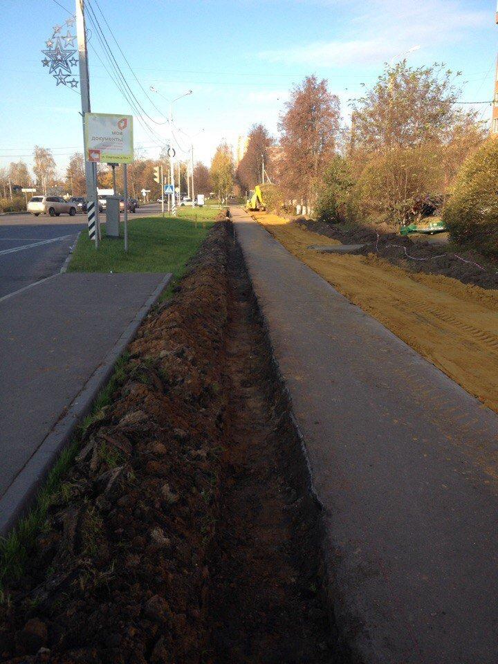 В Домодедово продолжаются работы по строительству велодорожки, фото-2