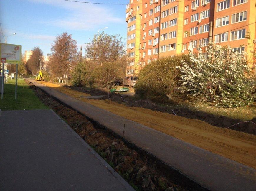 В Домодедово продолжаются работы по строительству велодорожки, фото-3