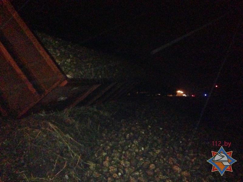 Ночью под Гродно перевернулся вагон со свеклой, фото-1