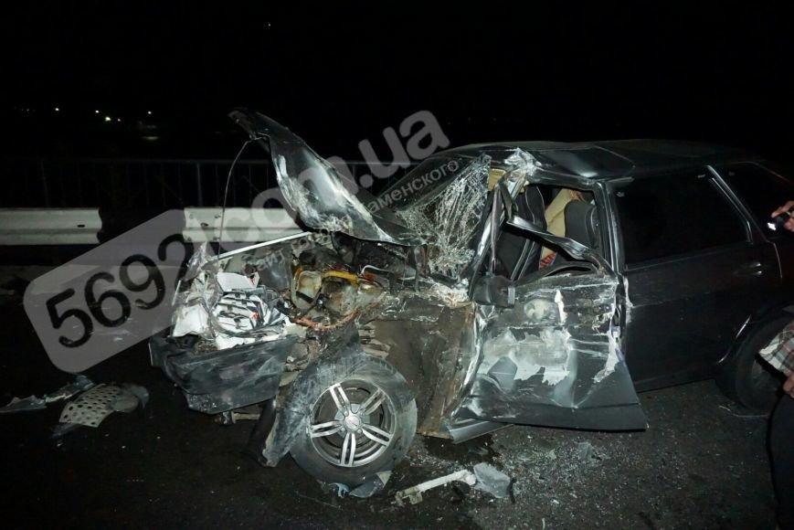 ДТП на плотине в Каменском: водителя «девятки» доставали спасатели, фото-1