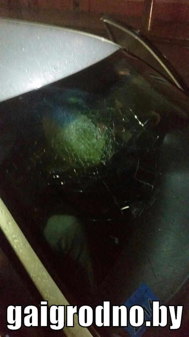 """В Гродно бесправник на Хёндэ """"зазевался"""" на мокрой дороге и врезался в бус - пассажир разбил головой лобовое стекло, фото-4"""