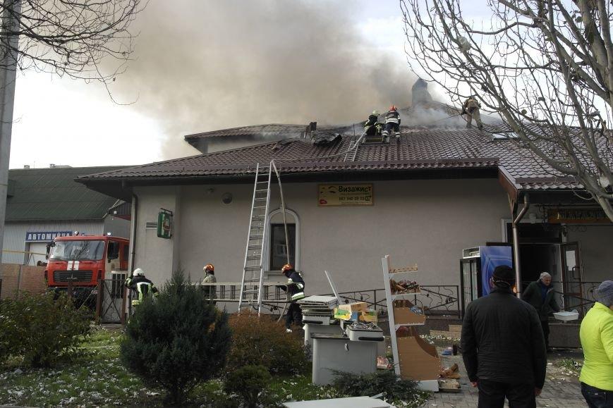 В Покровске пожаром охвачено здание ресторана «Лоза», фото-5