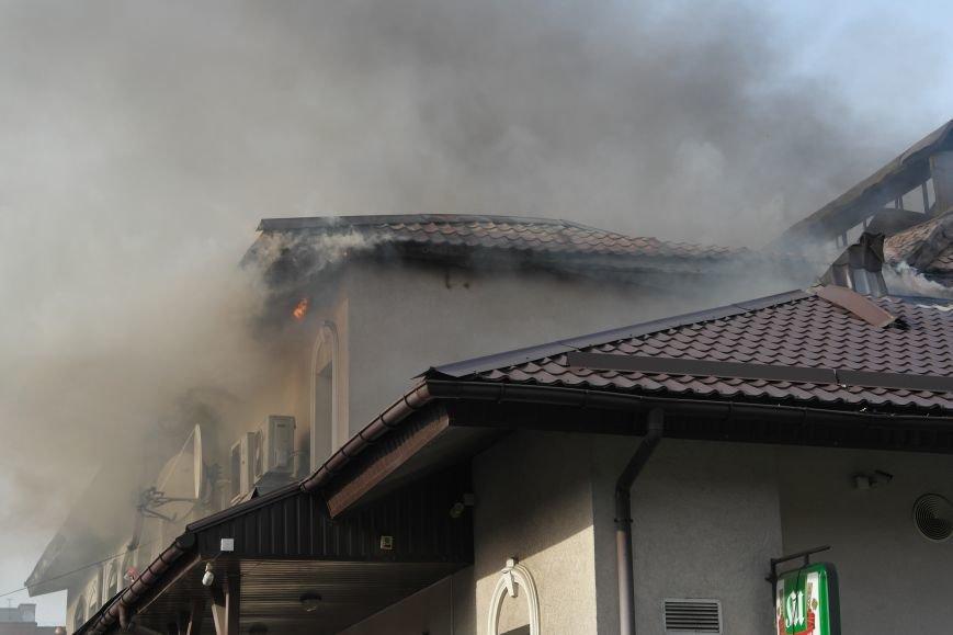 В Покровске пожаром охвачено здание ресторана «Лоза», фото-8