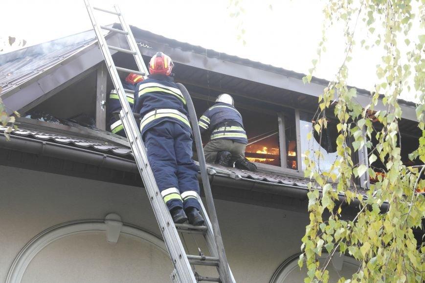 В Покровске пожаром охвачено здание ресторана «Лоза», фото-14