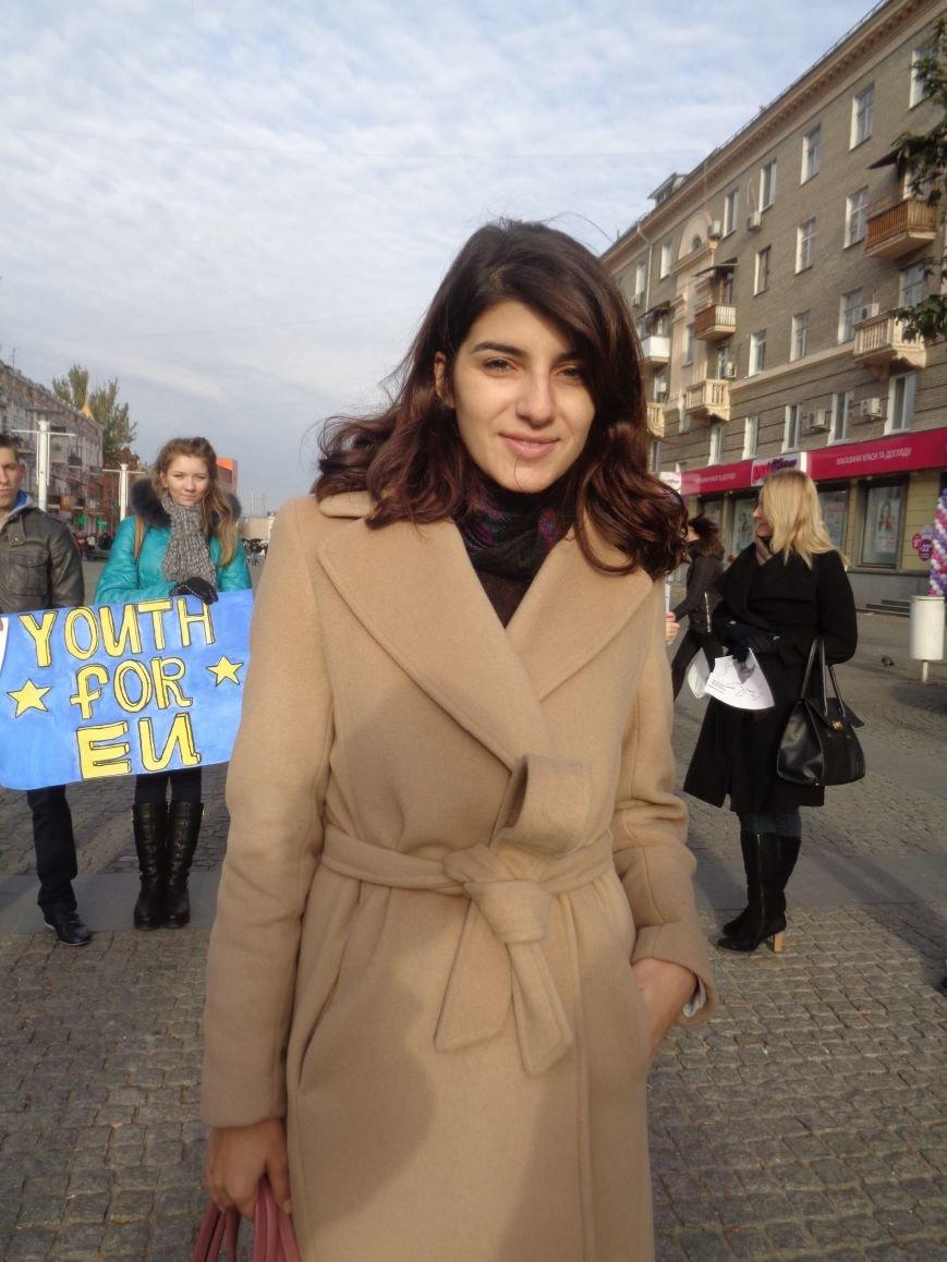 Днепровская молодежь провела акцию в поддержку ассоциации Украины с ЕС (ФОТО, ВИДЕО), фото-1