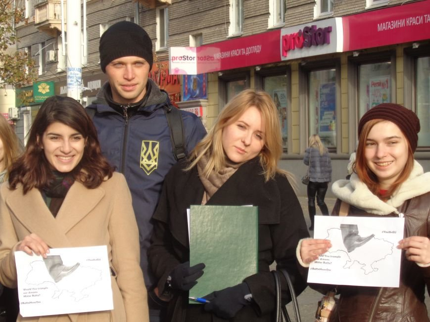 Днепровская молодежь провела акцию в поддержку ассоциации Украины с ЕС (ФОТО, ВИДЕО), фото-4