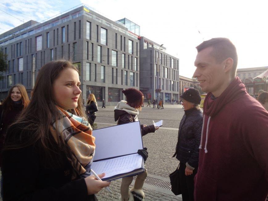 Днепровская молодежь провела акцию в поддержку ассоциации Украины с ЕС (ФОТО, ВИДЕО), фото-12