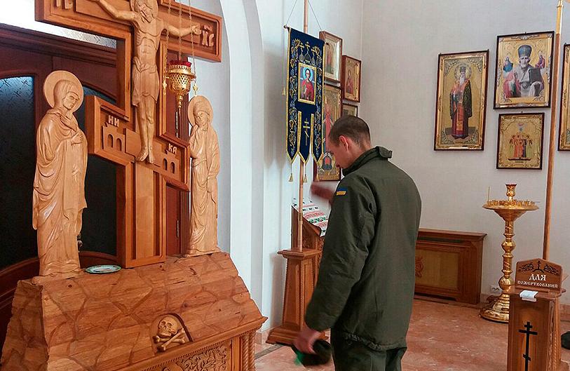 Нацгвардейцы посетили храм в Покровске, фото-5