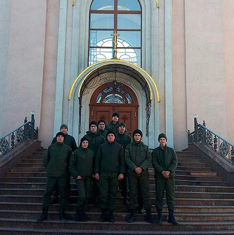 Нацгвардейцы посетили храм в Покровске, фото-4