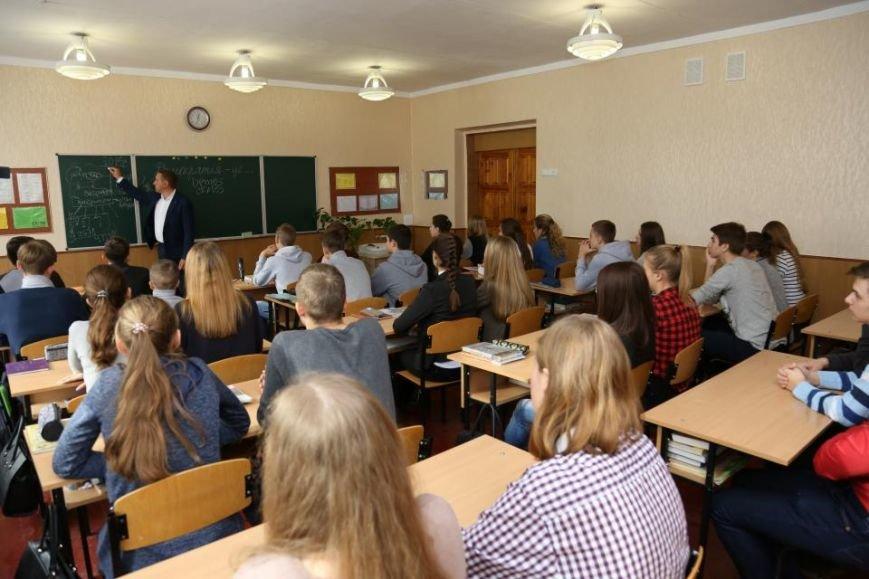Как мэр Кременчуга на один урок стал учителем, фото-5
