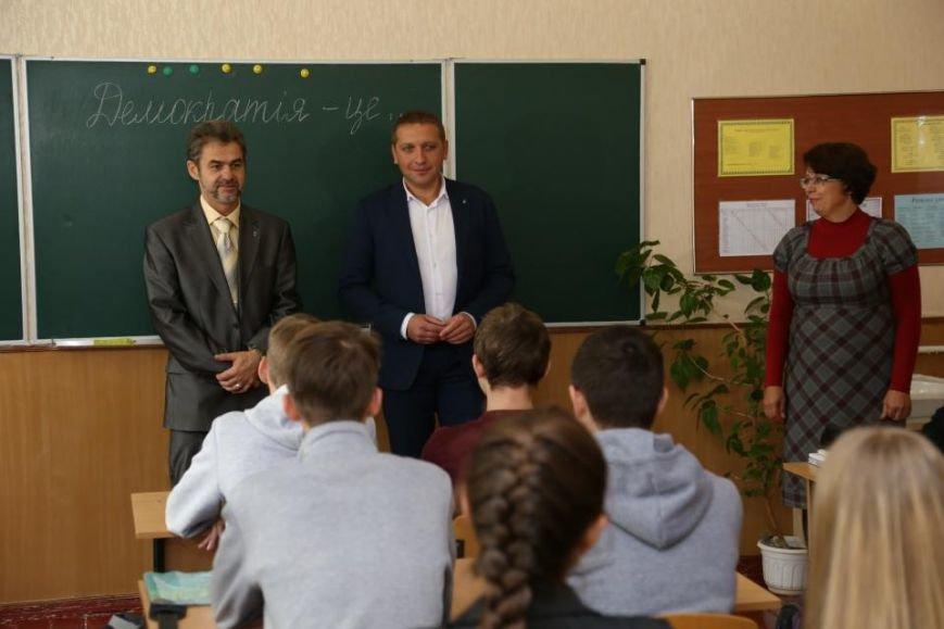 Как мэр Кременчуга на один урок стал учителем, фото-3