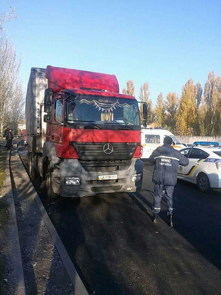 ДТП в Днепре: маршрутка влетела в фуру (ФОТО), фото-1