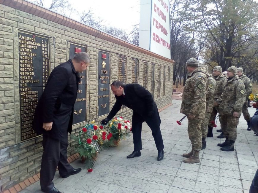В Доброполье возложили цветы в честь освобождения от фашистских захватчиков, фото-1