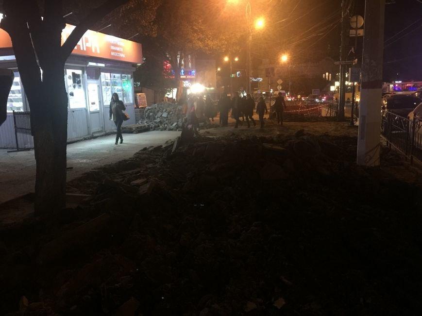 "Центр Симферополя превратился в ""дорогу с преградами"" (ФОТОФАКТ), фото-1"