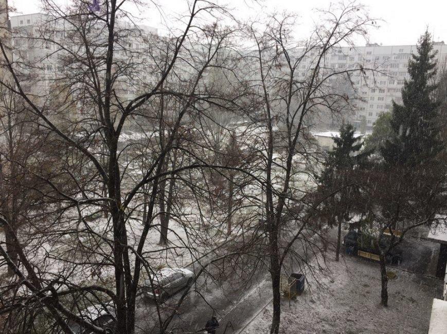 В Харькове выпал первый снег (ФОТО), фото-3