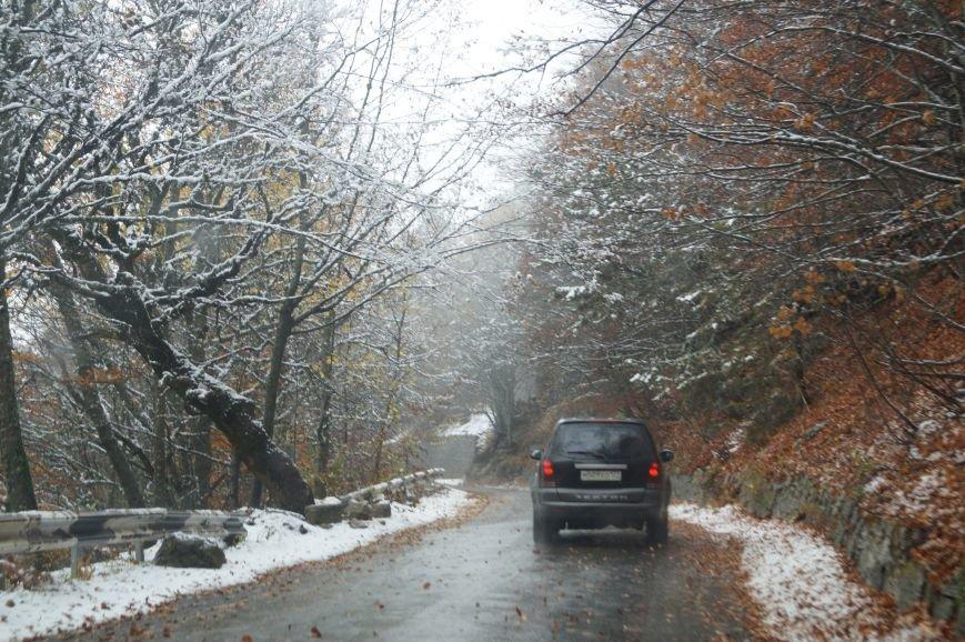В Крыму выпал снег (ФОТО, ВИДЕО), фото-1
