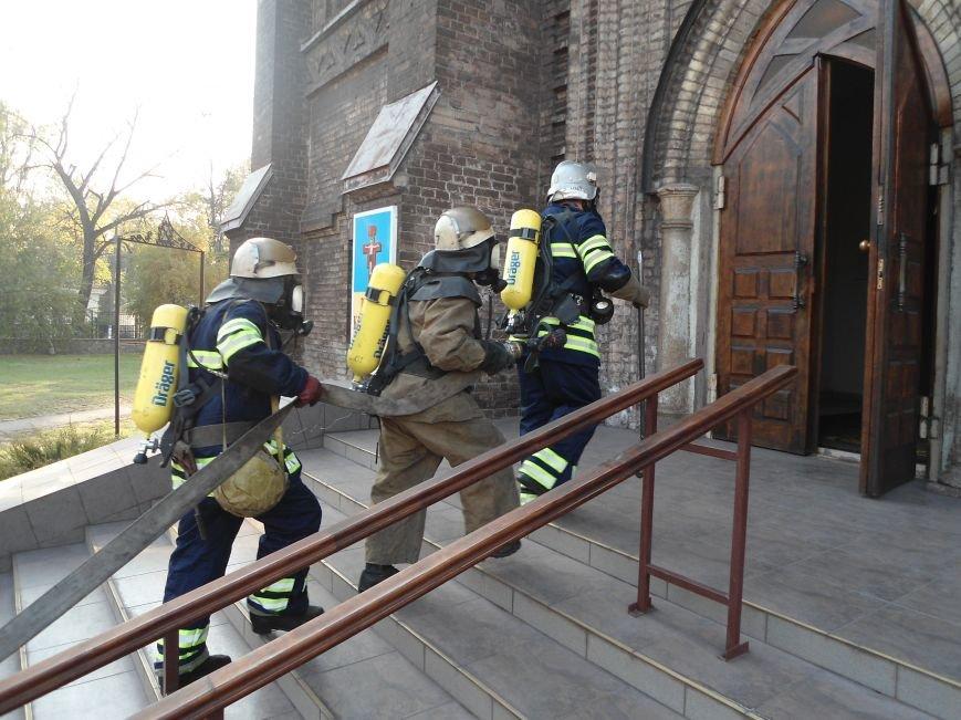 В Каменском костеле тушили условный пожар, фото-1