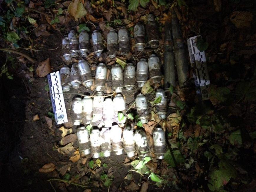 В зоне АТО нашли четыре тайника с снарядами, оружием и взрывчаткой (ФОТО, ВИДЕО), фото-3
