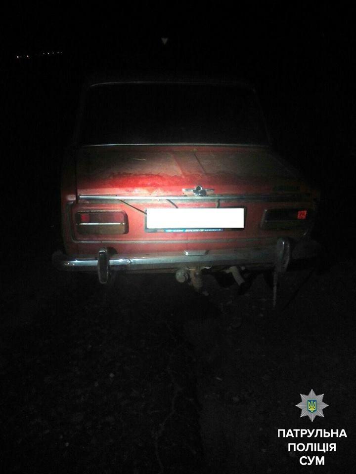 В Сумах патрульные нашли угнанный автомобиль и задержали двух подозрительных мужчин (ФОТО), фото-1