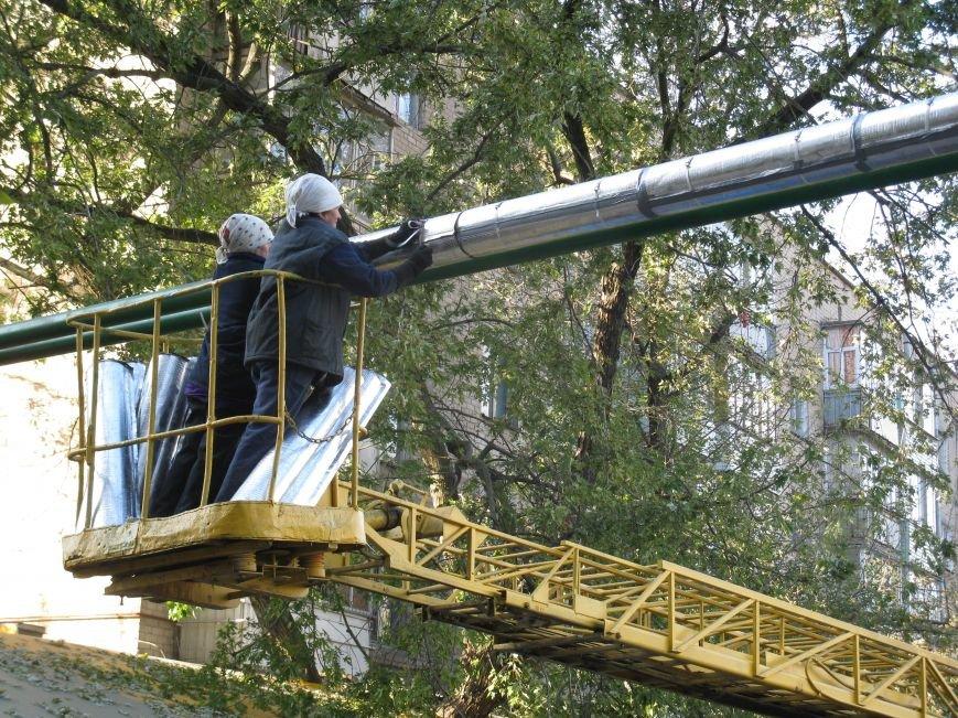 В Мелитополе утепляют воздушную теплотрассу, фото-2