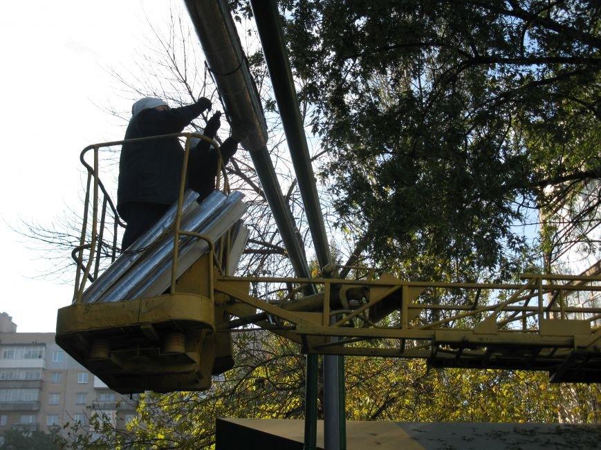 В Мелитополе утепляют воздушную теплотрассу, фото-5