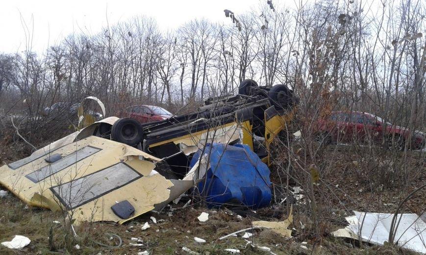 На Салтовском шоссе масштабная авария: перевернулся микроавтобус (ФОТО), фото-3