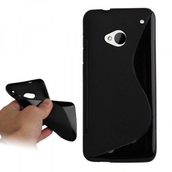 A-HTC-ONE-001 S Line силиконовый чехол для HTC One %28черный%29_1-600x600_0