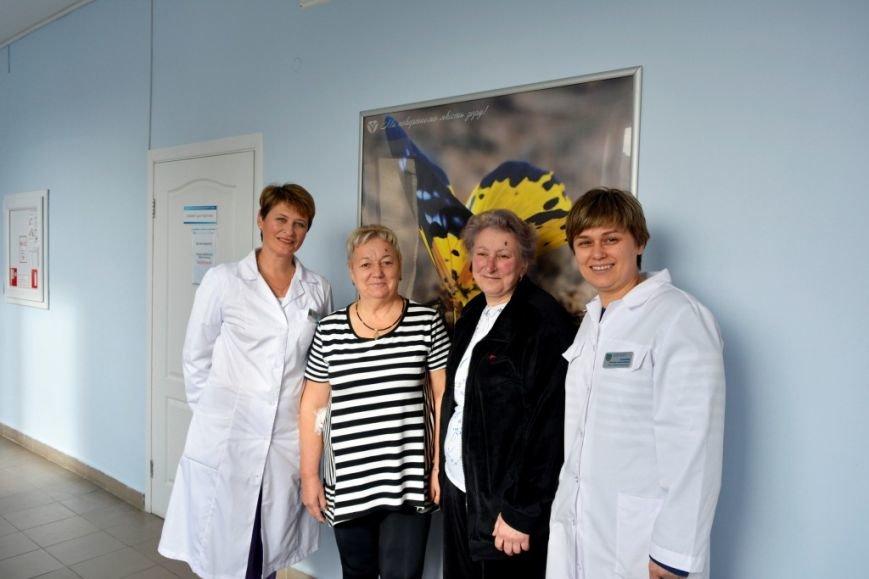Пациентки из Балабино с хирургами Н. Луценко и О. Исаковой