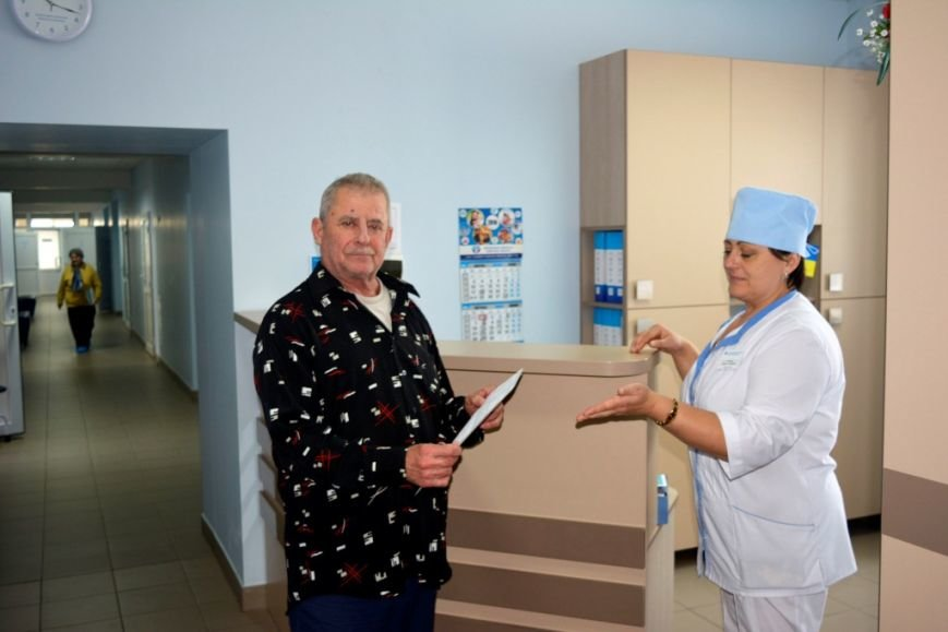 Пациент Николай Николаевич перед выпиской домой