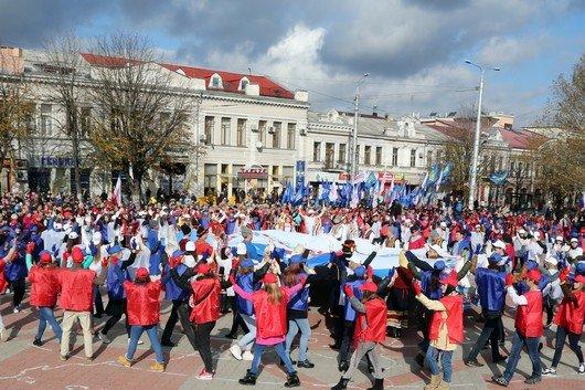 В Крыму участие в шествиях ко Дню народного единства приняли более 40 тысяч человек, половина из них - в Симферополе (ФОТО), фото-6