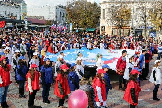 В Крыму участие в шествиях ко Дню народного единства приняли более 40 тысяч человек, половина из них - в Симферополе (ФОТО), фото-7