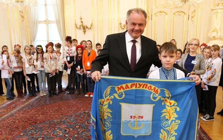 Президент Словакии встретился с мариупольской детворой (ФОТО), фото-2
