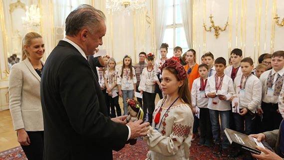 Президент Словакии встретился с мариупольской детворой (ФОТО), фото-1