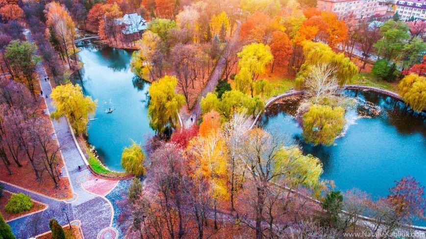 Осінній Франківськ із висоти пташиного польоту. Фото, фото-3