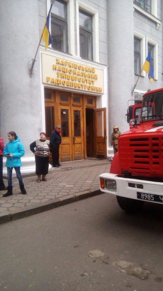 В Харькове спасатели не дали случиться пожару в ХНУРЭ (ФОТО), фото-1