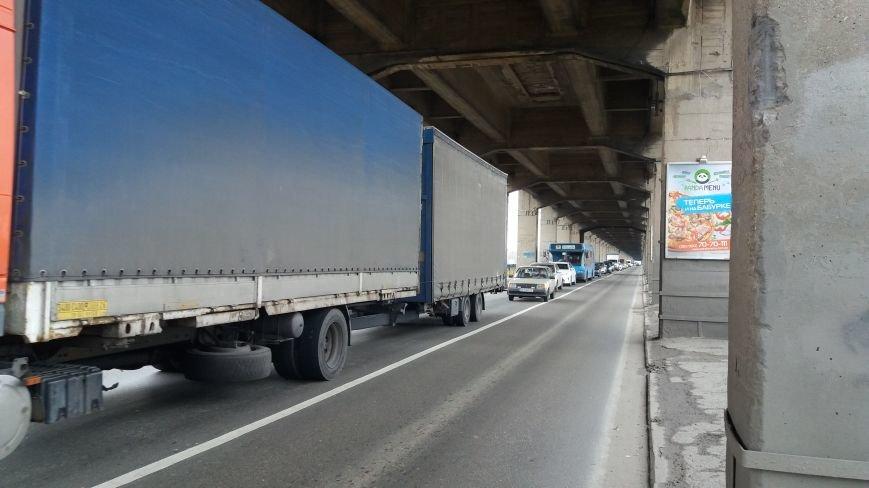 Запорожские велоактивисты заблокировали проезд по мосту Преображенского, - ФОТО, ВИДЕО, фото-6