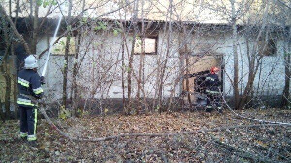 У Кам'янці горів закинутий склад біля кукурудзяного заводу, фото-2