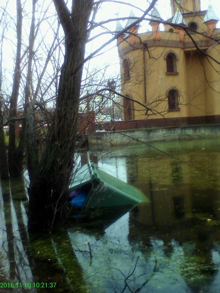 В Сумах быдло сбросило мусорные баки в озеро (ФОТО), фото-1