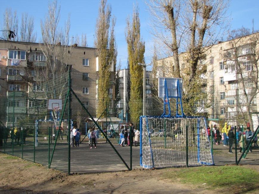 Еще в одном мелитопольском дворе появилась спортивная площадка (фото, видео), фото-10