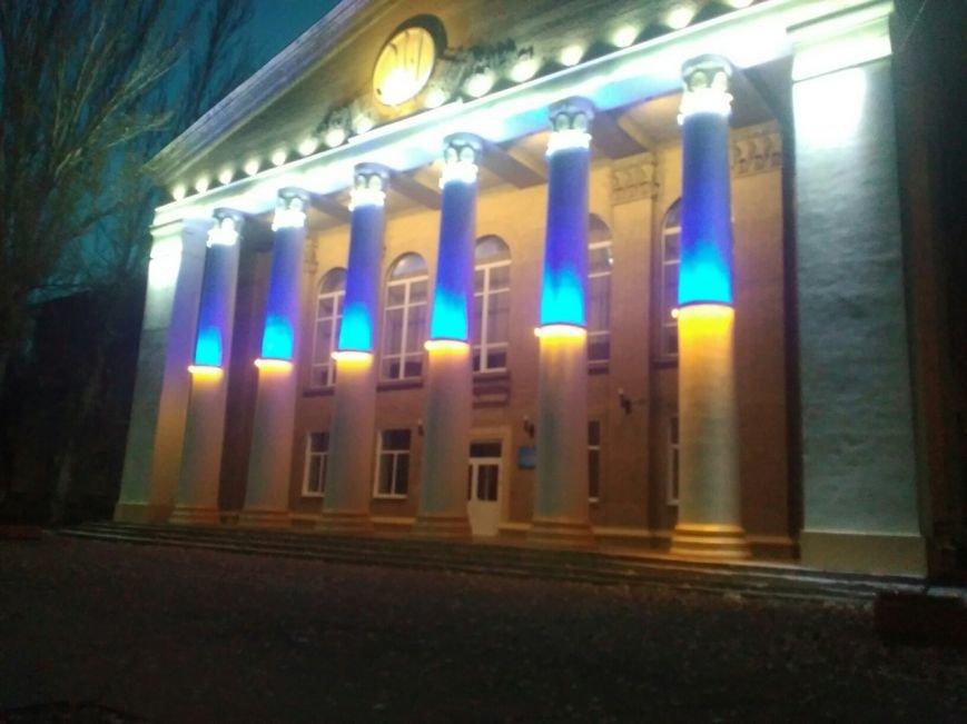В Мелитополе появился огромный флаг Украины, фото-1