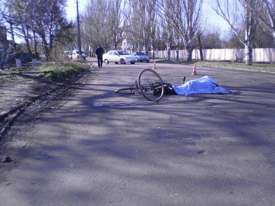 В очакове погиб велосипедист