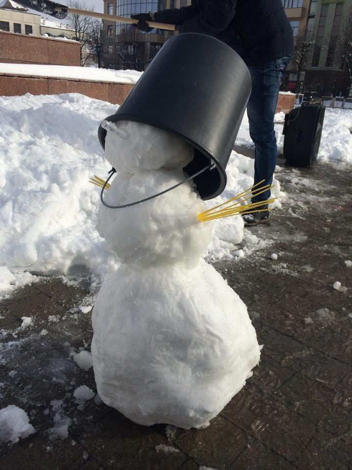 Марцінківу зліпили снігову бабу (ФОТО), фото-1