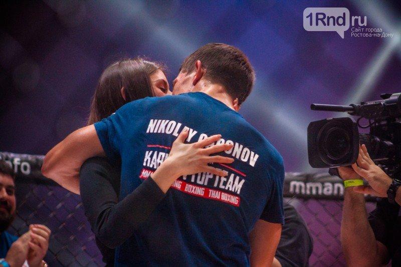 На турнире ММА ростовский боец сделал предложение своей девушке, фото-2