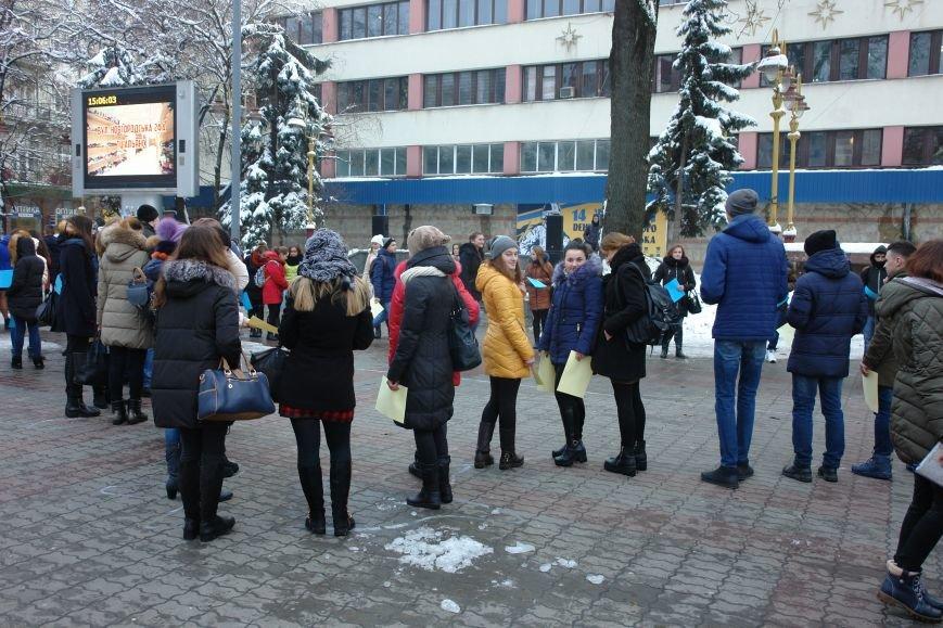 Ми в силах змінити все. На центральній площі міста франківські студенти провели флешмоб (ФОТО+ВІДЕО), фото-1