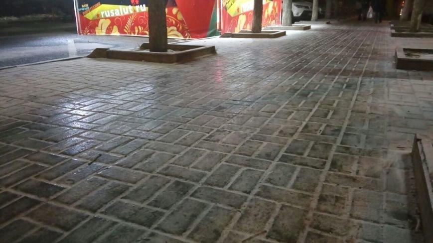 На тротуарах Ростова образовался гололед, фото-1