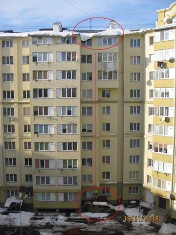 Сніг у Франківську сиплеться на голову всім, навіть приватним ЖЕО (ФОТО), фото-2