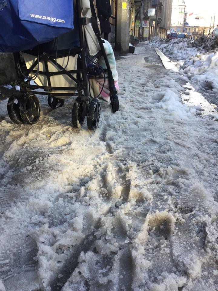 Франківців шокують купи грязюки зі снігом по всьому Івано-Франківську. Фото, фото-3