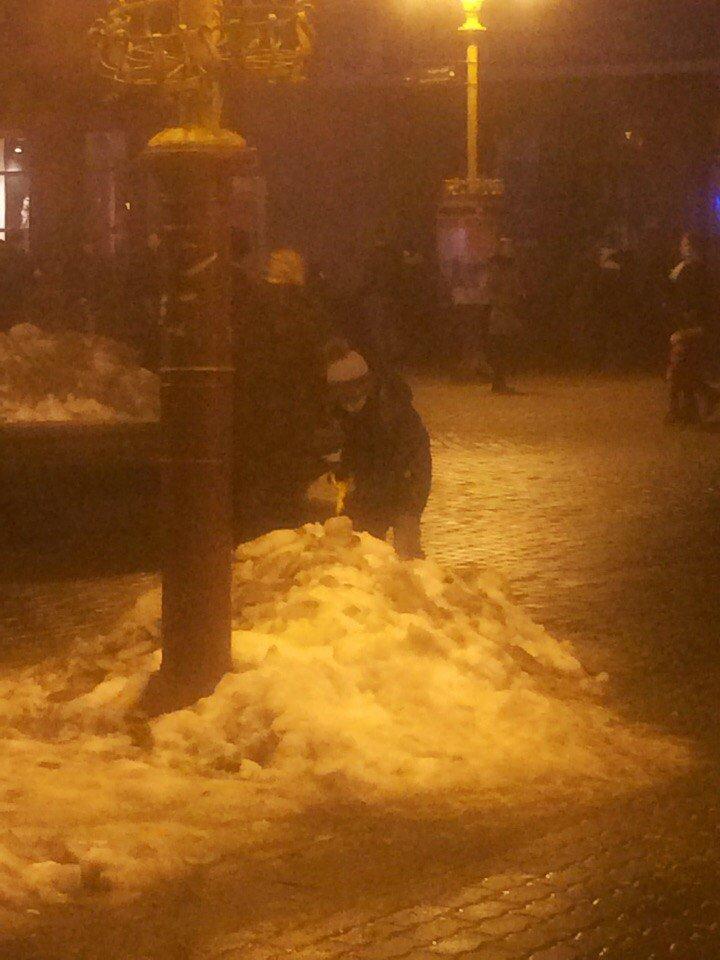 Як франківські дітки замість комунальників сніг прибирали (ФОТОФАКТ), фото-1