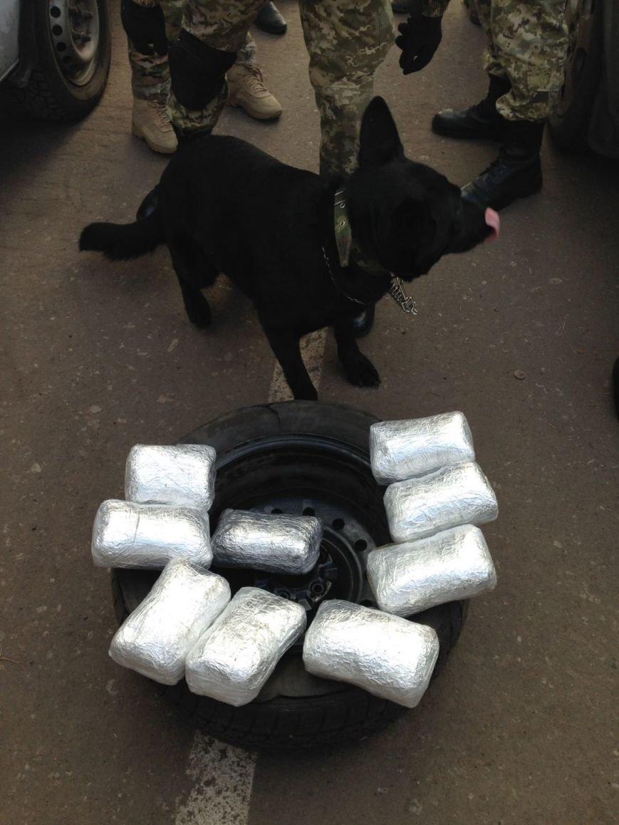 Семь килограммов марихуаны нашли пограничники в запаске «Нисана» в Бахмутском районе, фото-2
